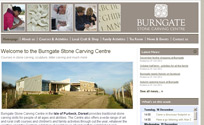 Burngate Stone Carving Centre in the Isle of Purbeck, Dorset provides traditional stone carving skills for people of all ages and abilities.